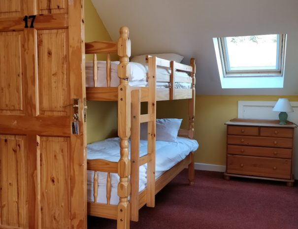 A picture of one of our family rooms, showing a bunk bed